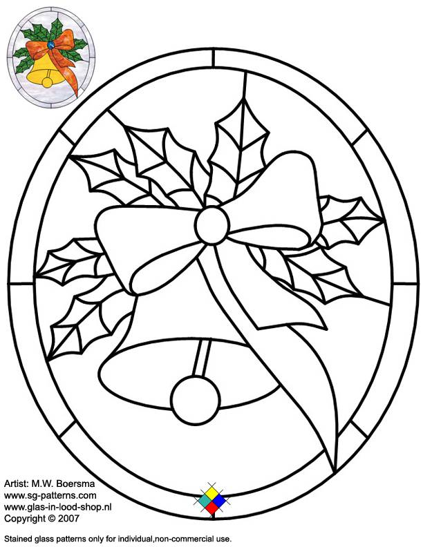 christmas stained glass window templates - stained glass patterns for free glass pattern 054