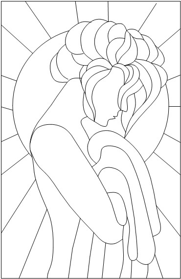 Effortless image with printable stained glass patterns