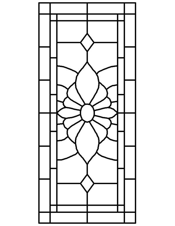 Glass window victorian stained glass window patterns for Glass panel design