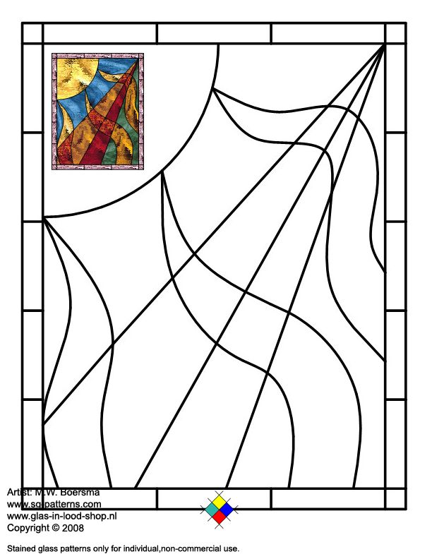 Stained Glass Patterns For Free Glass Pattern 497