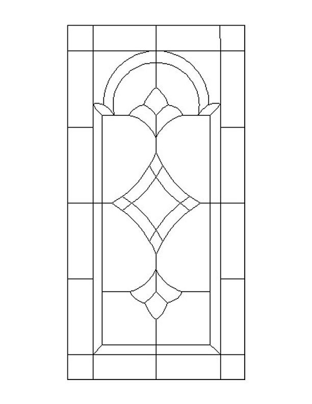 Stained glass patterns for free glass pattern 736 for Window design template