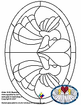 Stained Glass Patterns for FREE 025 Angel