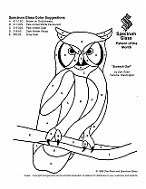 Stained Glass Patterns for FREE 031 Owl