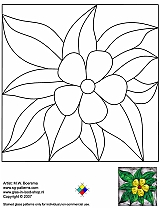 Tiffany Patterns for FREE 968 Flower